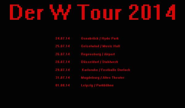 STefan Weidner aka DER-W gibt sieben Konzerte im Juli 2014