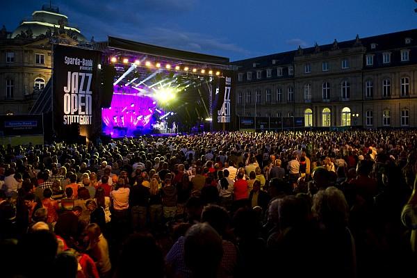 JazzOpen Bühne vergangenes Jahr (Credits: Opus GmbH / Reiner Pfisterer)