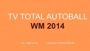 Am 07. Juni 2014 fidet wieder Stefan Raab Autoball WM in der Lanxess Arena in Köln statt