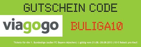 10€ Gutschein für Bundesliga Tickets! (1. Bundesliga ohne Fc Bayern München)