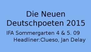 Die Neuen DeutschPoeten Festival 2015