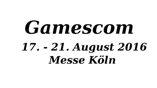 Gamescom Messe 2016