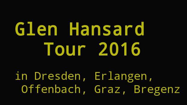 glen Hansard Konzerte 2016