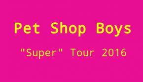 Pet Shop boys konzerte 2016